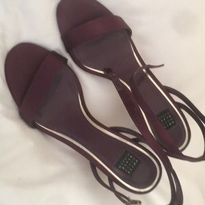 WHBM Strappy Sandal Egg Plant color size 7.5